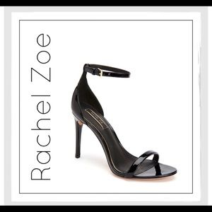 Rachel Zoe Black Patent Leather Ema Sandal Heels
